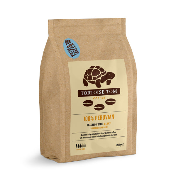Tortoise Tom Peruvian Coffee Beans 250g