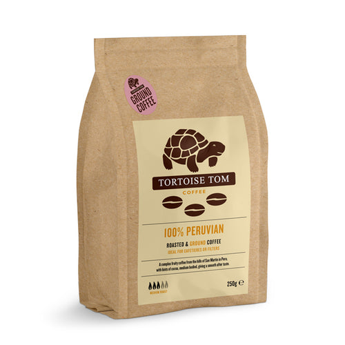 Tortoise Tom Peruvian Ground Coffee 250g