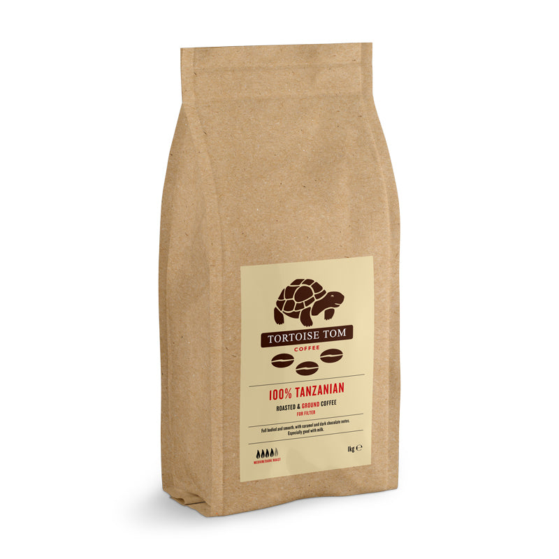 Tortoise Tom Tanzanian Filter Ground Coffee 1kg