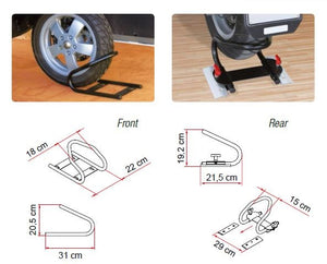 "FIAMMA ""MOTO WHEEL CHOCK""  BLOCCARUOTE PER CARRY RAIL PORTAMOTO GARAGE - AccessoriCaravan.it"