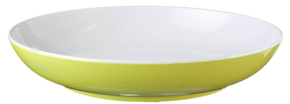 FLAME: PIATTO FONDO COLORE LIME IN MELAMINA - AccessoriCaravan.it
