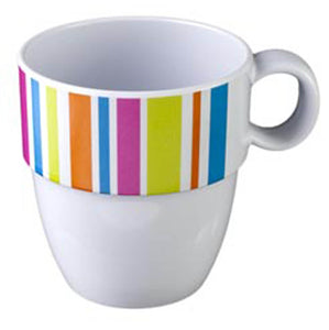 GLAMOUR: TAZZONE MUG COLOUR MIX IN MELAMINA ANTISLIP - accessoricaravan