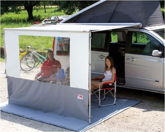 FIAMMA BLOCKER PRO 250: PARETE FRONTALE CON VETRATA IN CRYSTAL PER VERANDA MT. 2.50/2.60 - AccessoriCaravan.it