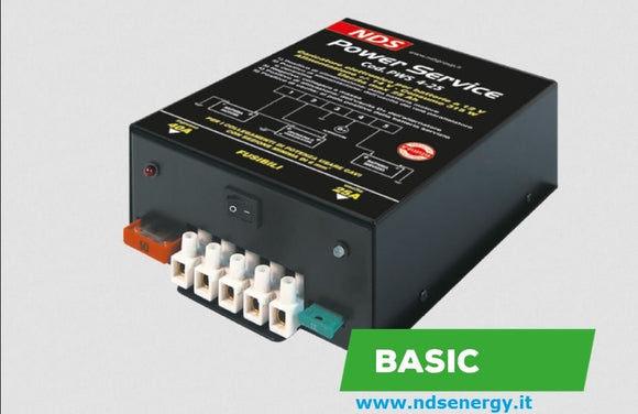 NDS POWER SERVICE BASIC CARICATORE ELETTRONICO PER BATTERIE CAMPER - accessoricaravan