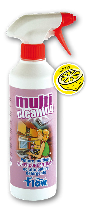 FLOW MULTICLEANING PULITORE MULTIUSO SUPERCONCENTRATO 500 ML - accessoricaravan