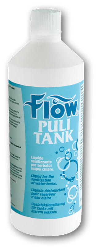 FLOW PULI TANK LIQUIDO SANITIZZANTE ACQUE CHIARE LT. 1 - accessoricaravan