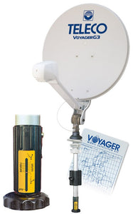 TELECO KIT VOYAGER  G3: ANTENNA SATELLITARE MANUALE - AccessoriCaravan.it