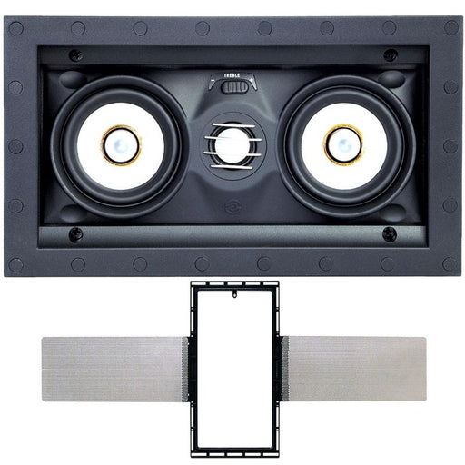 "Speakercraft ASM54631 AIM LCR3 3 Dual 3"" 2-Way In-Wall Speaker w/ FREE Bracket (3839809355840)"