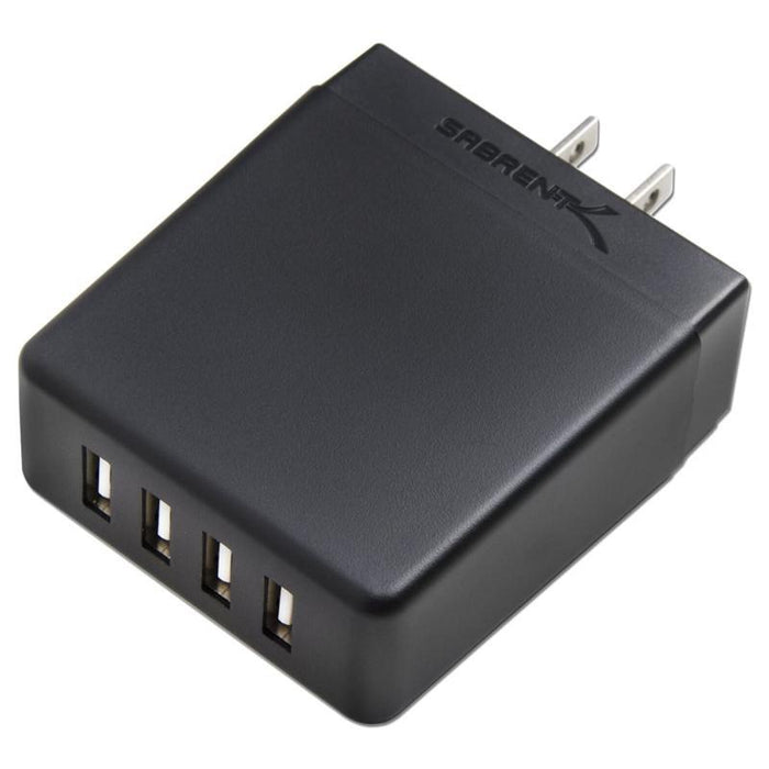 Sabrent AX-U4PB 40W / 8 Amp 4-Port Rapid Smart USB Wall Charger (2.4A/Port) (3839832064064)