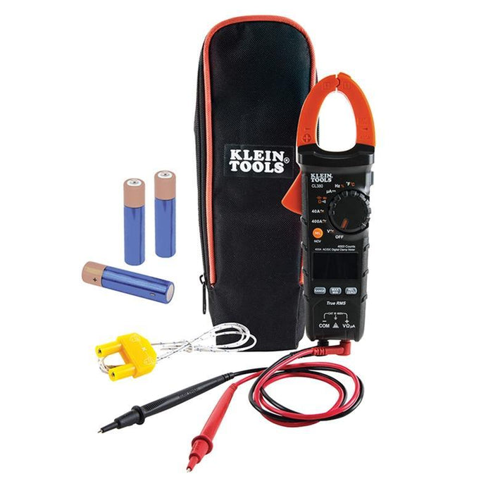 Klein Tools CL380 400 Amp True RMS AC DC Auto-Ranging Digital Clamp Meter Tester (4169143976000)