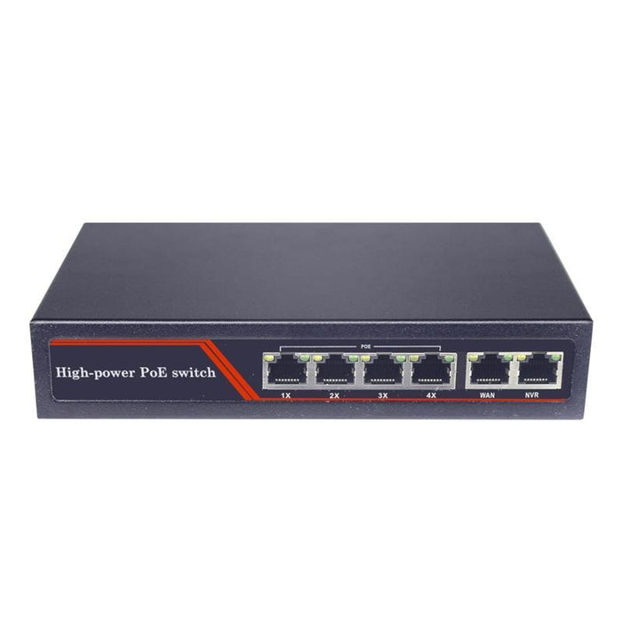 4 Port Unmanaged Fast Ethernet PoE Switch with 2 Uplink Ports, 10/100Mbps (4169144827968)