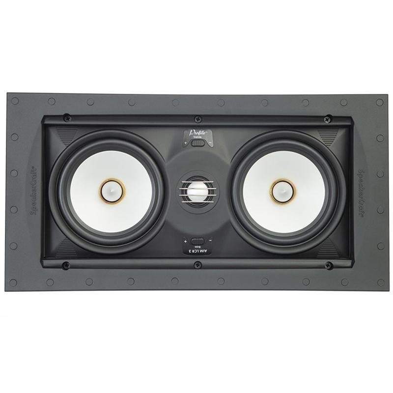 SpeakerCraft ASM54633-2 Profile Aim LCR5 Three In-wall Speaker w/ Aimable Woofer (4169145188416)