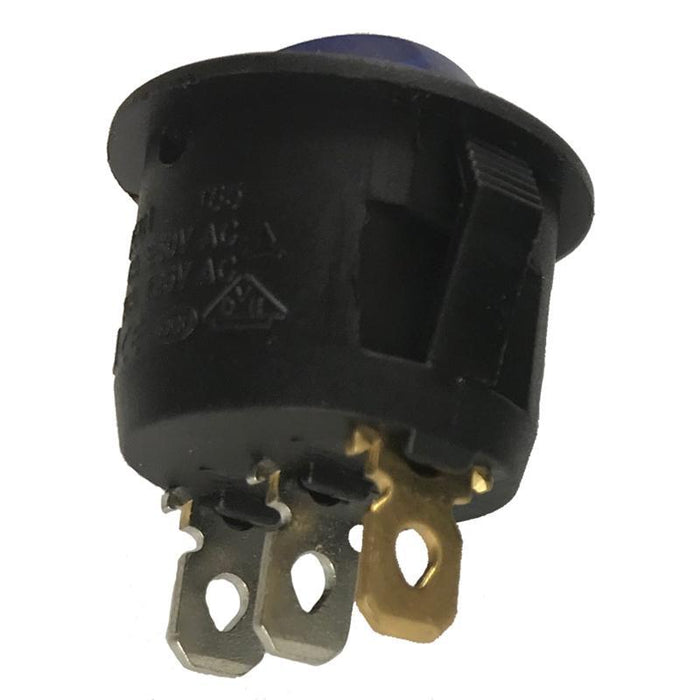 On Off Switch Round Blue Light Toggle On-Off Rocker Switch 12V 3-Pin (10 Pack) (4169146892352)