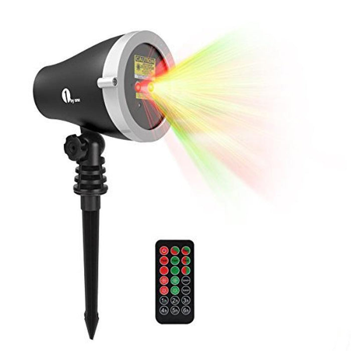 1 By One Garden Laser Christmas Light Projector Aluminum Body w/ Wireless Remote (4167802224704)