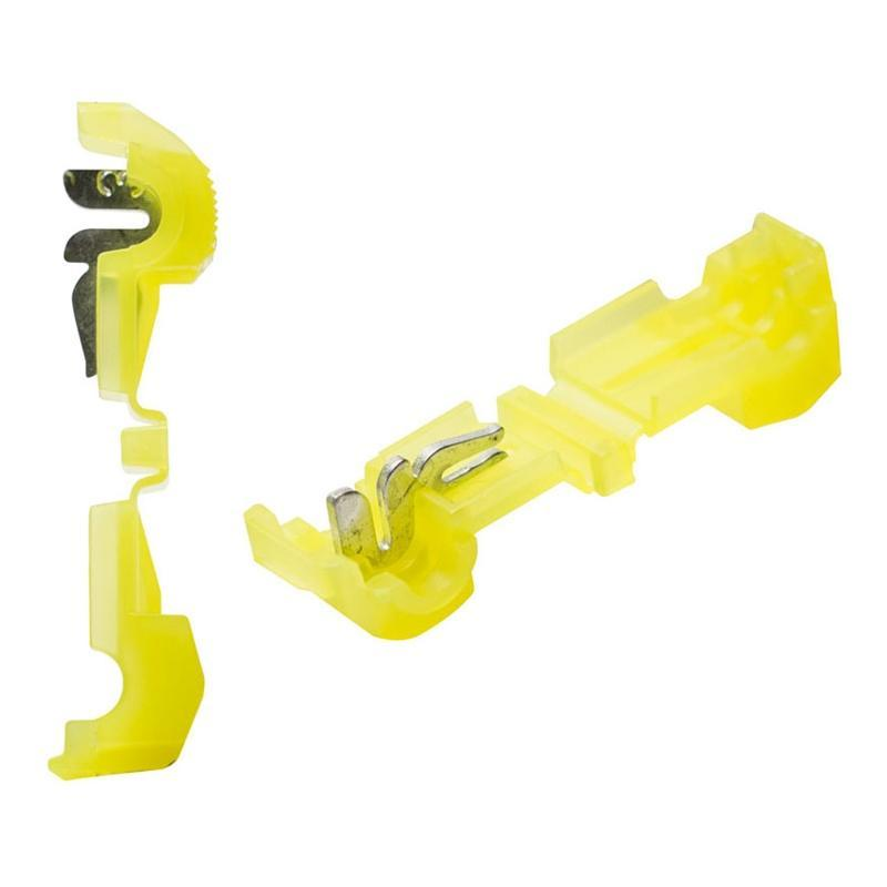 The Install Bay 3MYTT Yellow 12/10 Gauge T-Tap Connector (100/pack) (3838900371520)