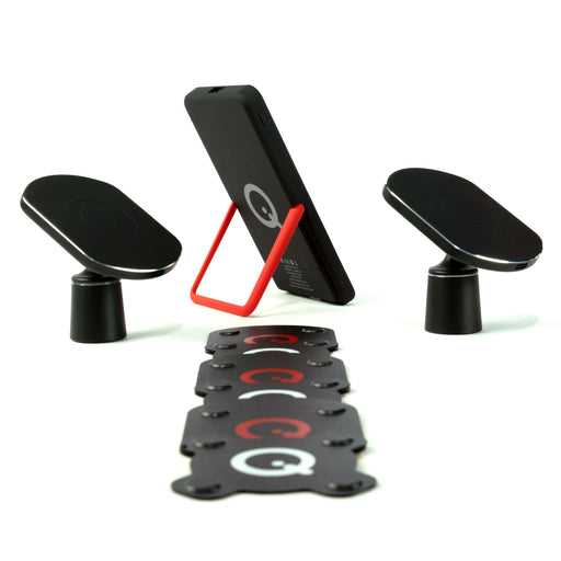 SoloQi 360 Bundle Complete Phone Wireless Charging Kit w/ 1 Batt 2 Mount 6 Pads (4201275031616)
