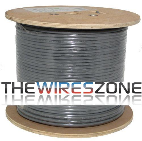 CAT6 23 AWG STP 8C Solid Bare Copper 550MHz PVC Jacket Gray 1000 Feet (3838922260544)