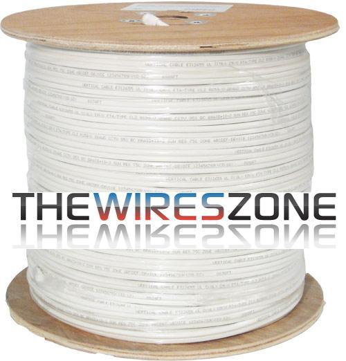 RG59 Siamese 20AWG Bare Copper Coaxial Cable + 18AWG Power Cable 1000'