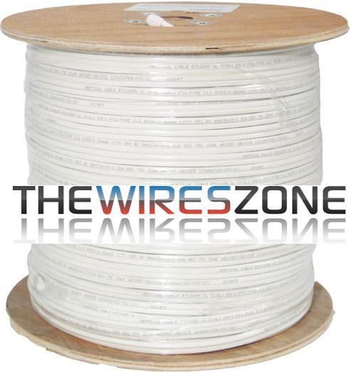 RG59 Siamese 20 AWG CCS Coaxial Cable + 18 AWG Power Cable 500' White (3838925471808)