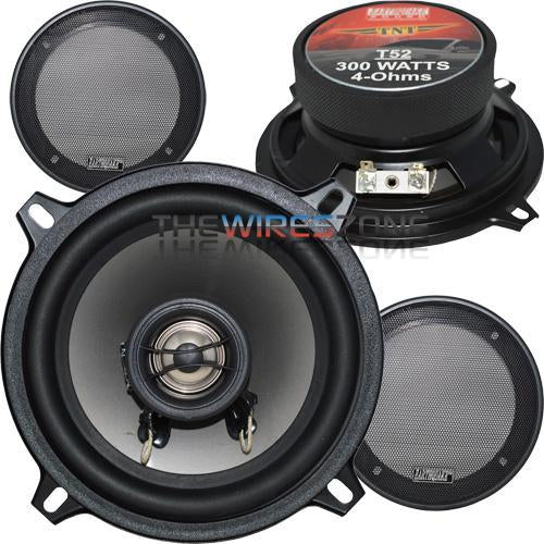 "Earthquake Sound T52 TNT 2-Way 5.25"" 300W Coaxial Car Speaker (pair) (3838942085184)"