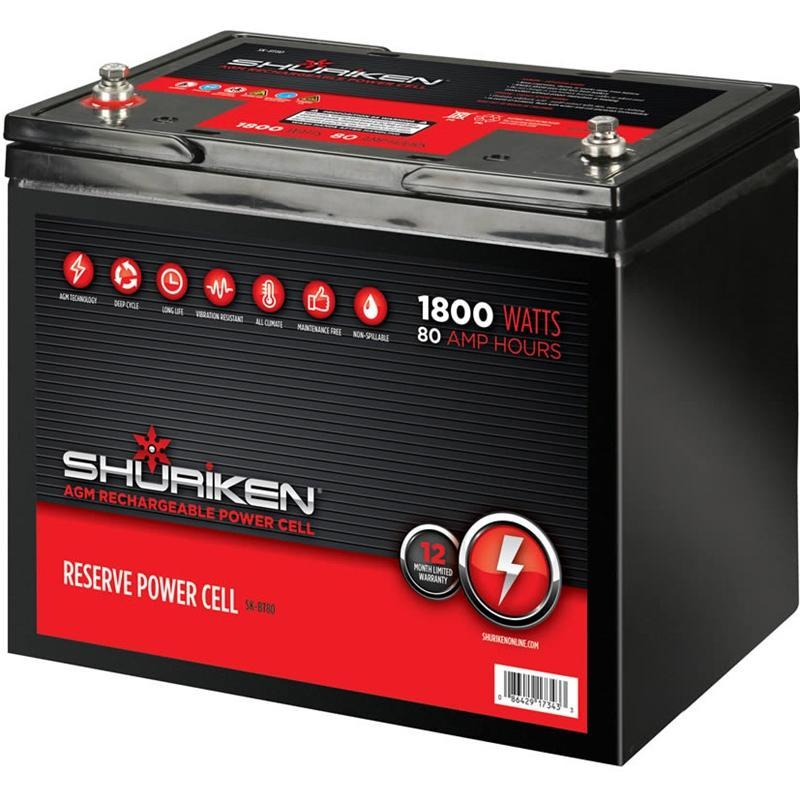 Shuriken SK-BT80 1800 Watts 80 Amp Hours Large Size AGM 12V Battery (3838977835072)