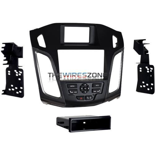 Metra 99-5827G Single/Double DIN Dash Kit w/ Grey Vent for Ford Focus