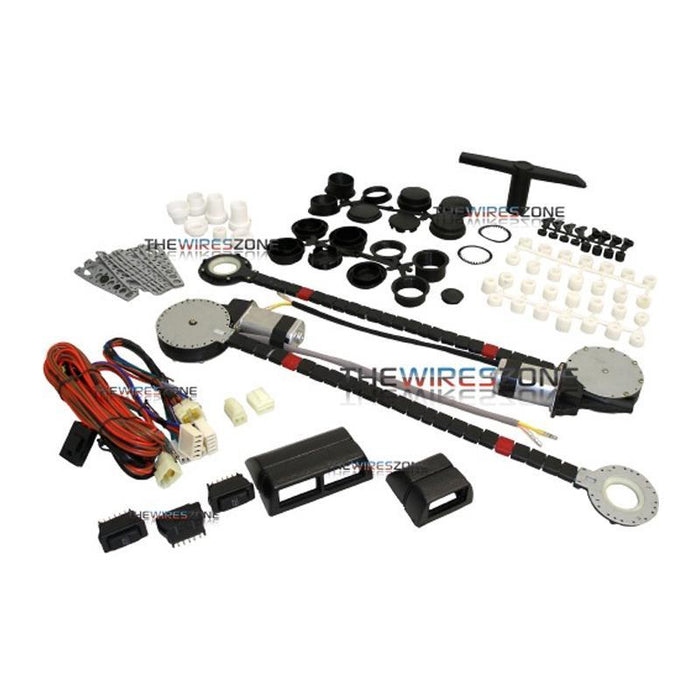 UPW-2D Universal 12 Volt Power Window Kit for 2 Doors with Switches (3839037407296)