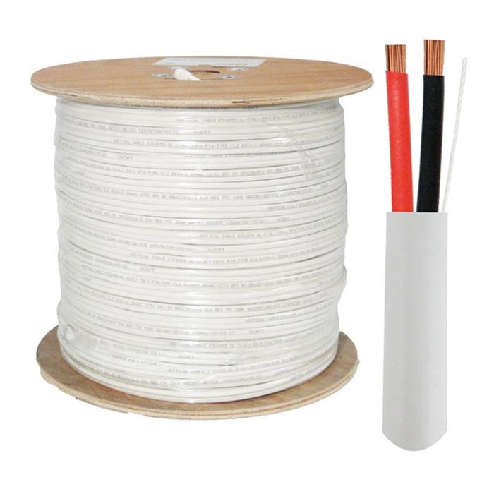 CL3 CMR ETL 14 Gauge 2 Conductor White Copper 1000 Feet Audio Cable (3839046058048)