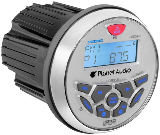 "Planet Audio PGR35B Marine Bluetooth Receiver + 2 Pair of 6.5"" Speaker"