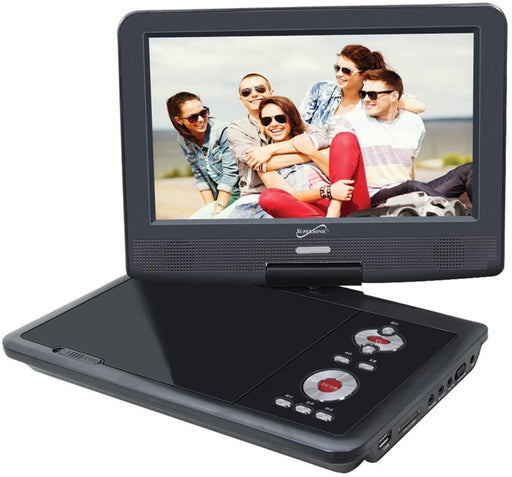 "SuperSonic SC-259 9"" Portable DVD Player and Digital TV with USB ,SD inputs and Swivel Display"