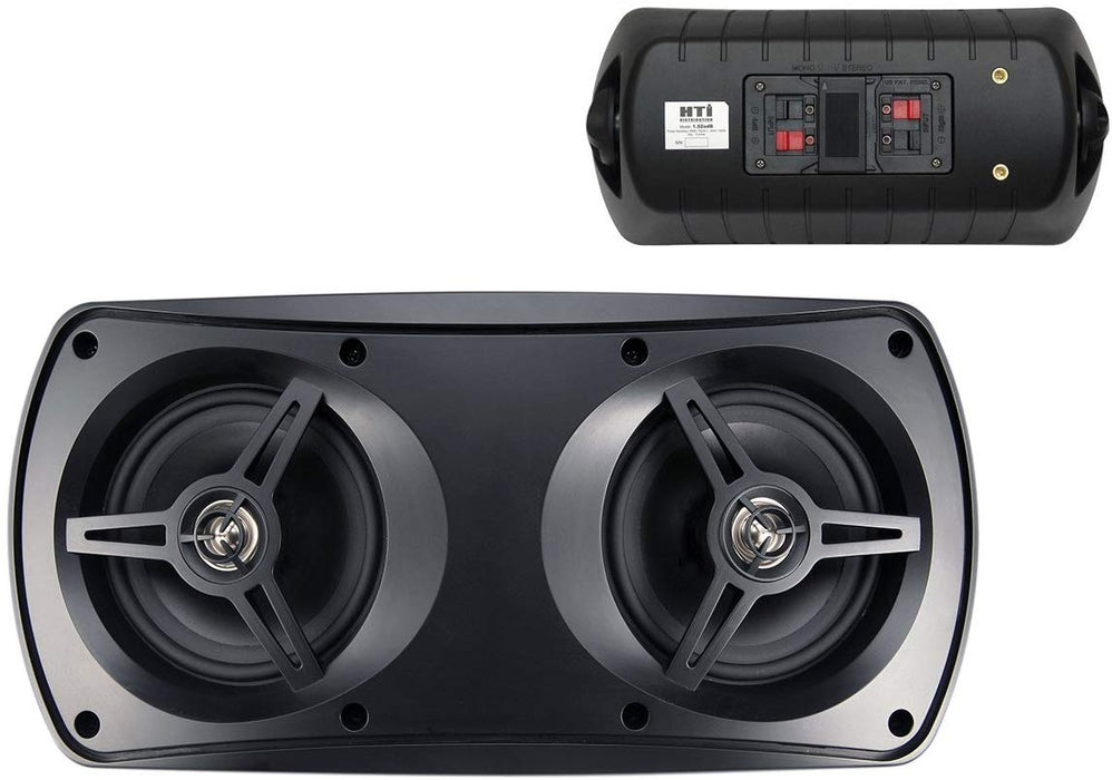 "Black 5"" 100 Watts 6 Ohms Outdoor Home Theater Speaker System (pair)"