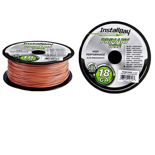 The Install Bay PWBR18500 18 Gauge Brown Coil 500 Feet Primary Wire (3839058509888)