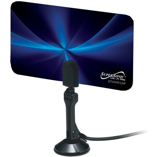 Supersonic SC-607 Flat Digital HDTV Antenna w/ VHF/UHF Frequency Range (3839063752768)