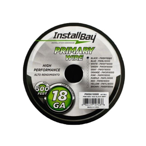 The Install Bay PWBK18500 Black Coil 18 Gauge 500 Feet Primary Wire (3839075876928)