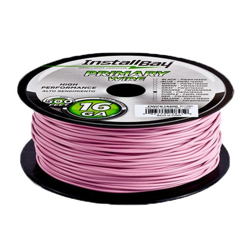 The Install Bay PWPK18500 18 Gauge Pink Coil 500 Feet Primary Wire (3839075975232)