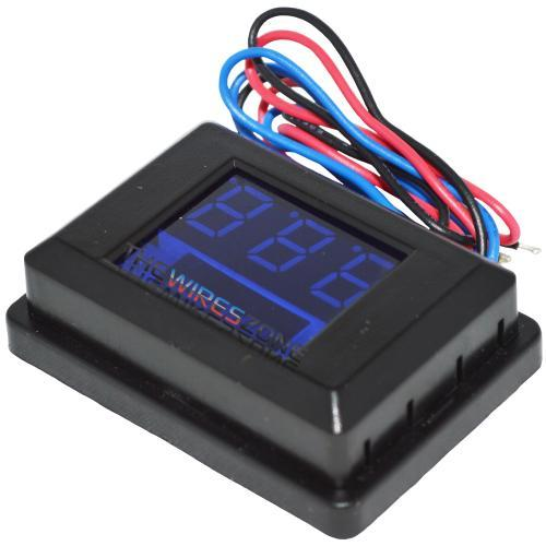 12VM-B Digital 12 Volt Voltage Meter with 3-Digit Blue LED Display (3839076466752)