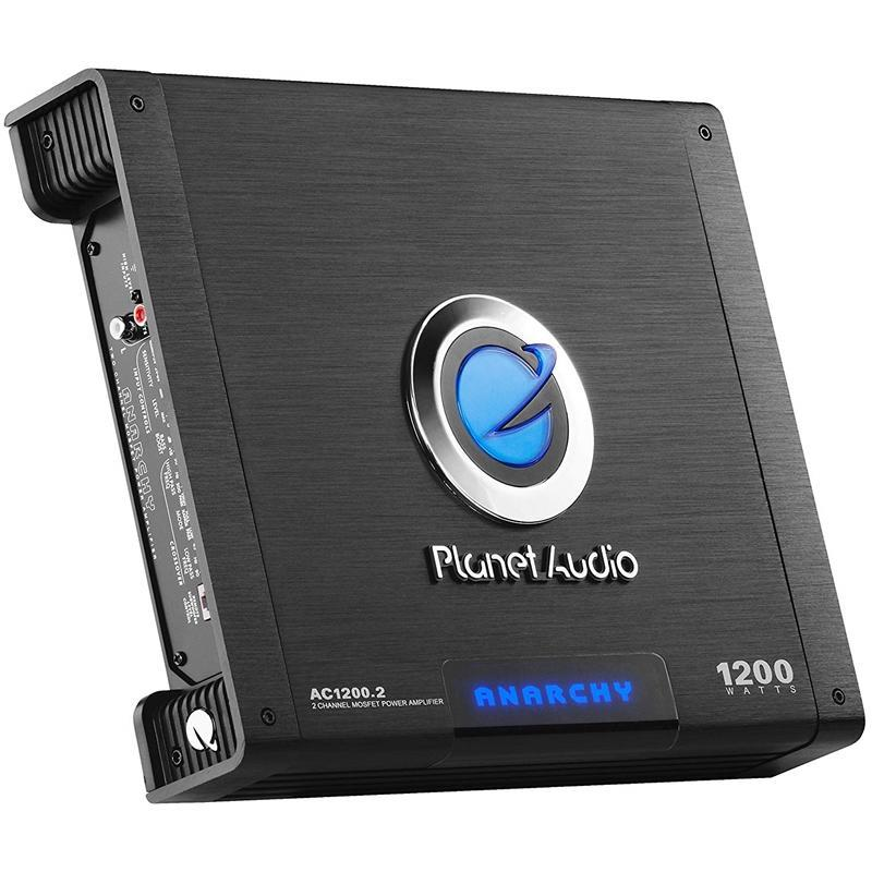 Planet Audio AC1200.2 2-Channel 1000 Watt Car Amplifier with Remote (3839079710784)