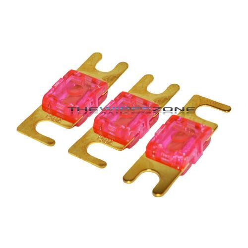 Pink Gold Plated 150 Amp Mini ANL Fuse (3/pack)