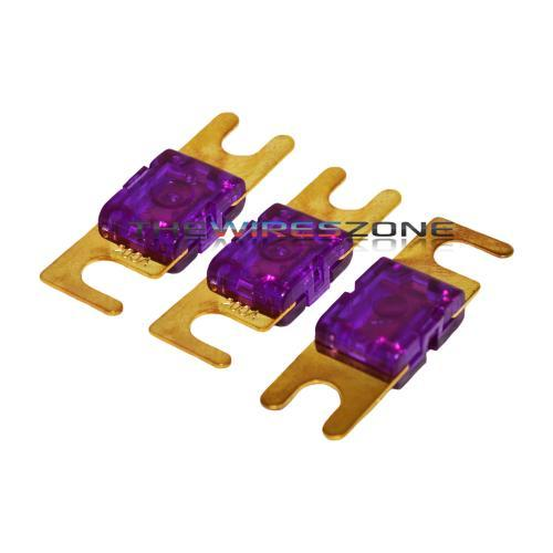 Purple Gold Plated 200 Amp Mini ANL Fuse (3/pack)