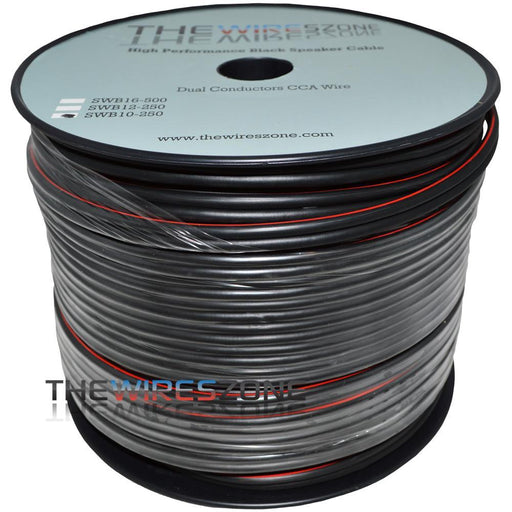 TWZ SWB10-250 True 10 Gauge 250' Black Speaker Wire for Home/Car Audio (3839102943296)