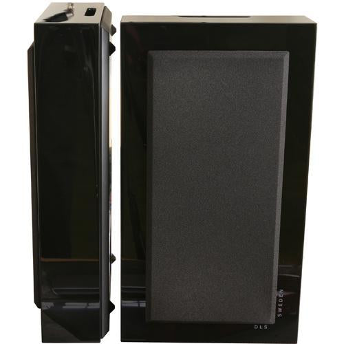 DLS FlatBox Midi Black 2-Way Bass Reflex On Wall Hi-Fi Speaker (pair) (3839103860800)