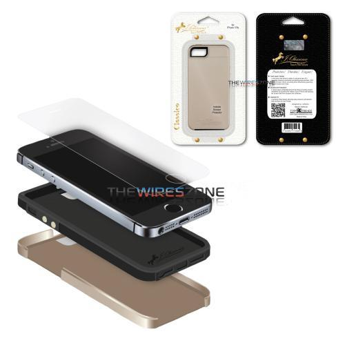J. Ohanna Gold Coffee Black Durable Elegant Smart Case for iPhone 5 5S (3839122767936)