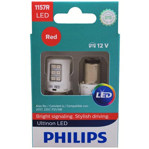 Philips 1157 LED Vision 2 Watts 12V Red Stop/Tail Light Bulb (pair)