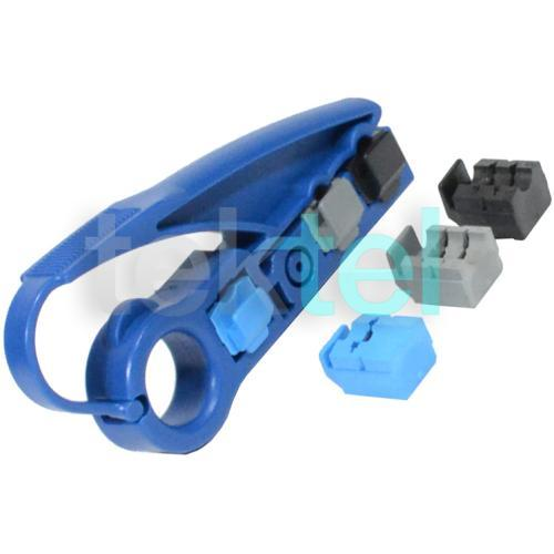 RG6/RG59 CAT5E/CAT6 Coaxial UTP Cable Jacket Stripper/Cutter Tool