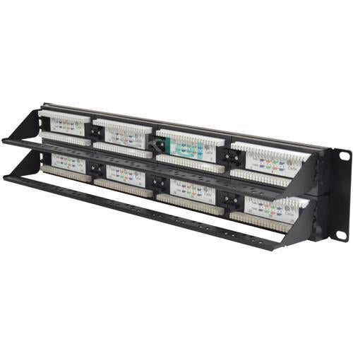 CAT5 CAT5E UTP 48 Port Network LAN Patch Panel with Cable Management (3839165169728)