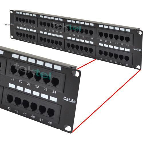 CAT5 CAT5E UTP 48 Port Network LAN Patch Panel with Cable Management