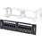 CAT6 Cable UTP 12 Port Network Mini Patch Panel w/ Wall Mount Bracket (3839165333568)