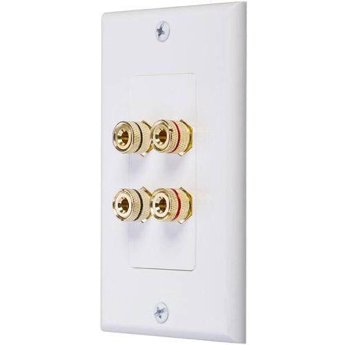 Ethereal IHT-BNDPSTX4 Banana Binding Post Wall Plate for Dual Speakers (3839195283520)