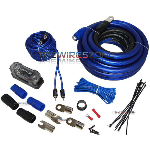 Raptor R4AK0 Mid Series 2400W 1/0 Gauge Amplifier Kit with RCA Cable (3839203508288)
