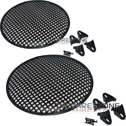 "Install Bay 85-9012 12"" Steel Speaker/Subwoofer Waffle Grille (pair) (3839205146688)"